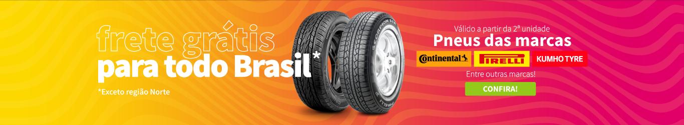Frete grátis para as marcas Continental, Pirelli e Kumho